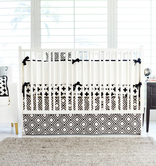 modern metal patterns modern baby bedding modern nursery