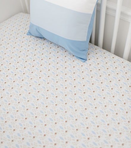 little acorn crib sheet born wild in blue collection - Crib Sheets