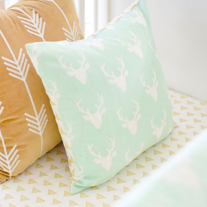green and mint throw pillows