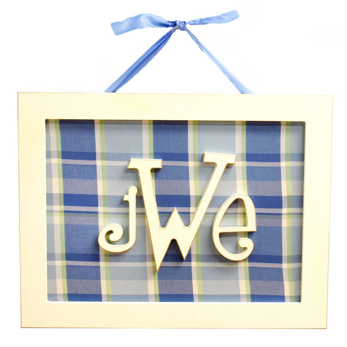 Rectangle Monogram Name Plaque