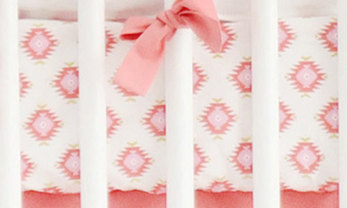 Pink and Coral Crib Sheets