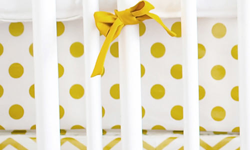 White/Gold/Khaki/Chocolate Crib Sheets