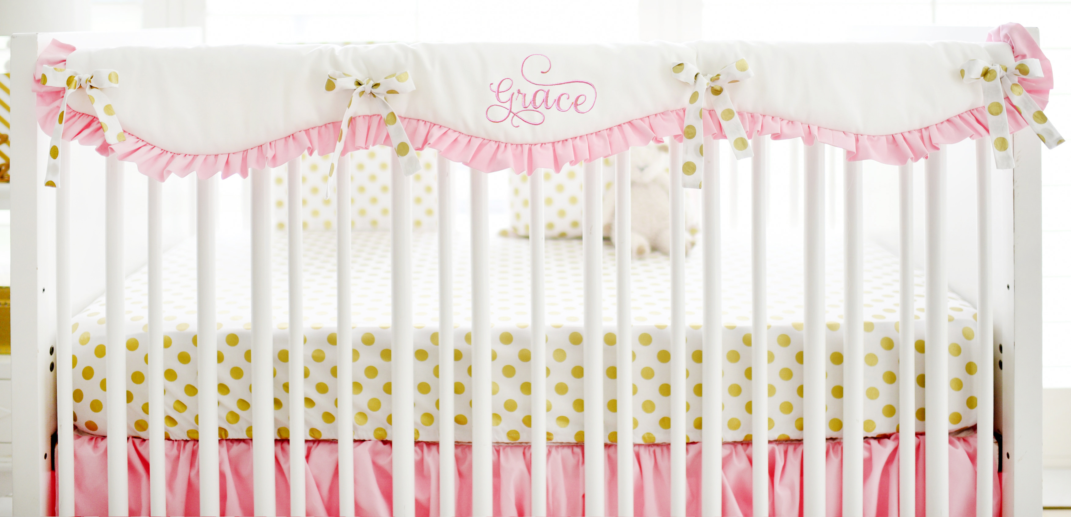 Pink And Gold Crib Bedding Pink And Gold Baby Bedding