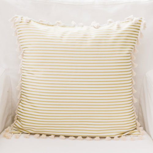 gold stripe pillow gold dust crib collection