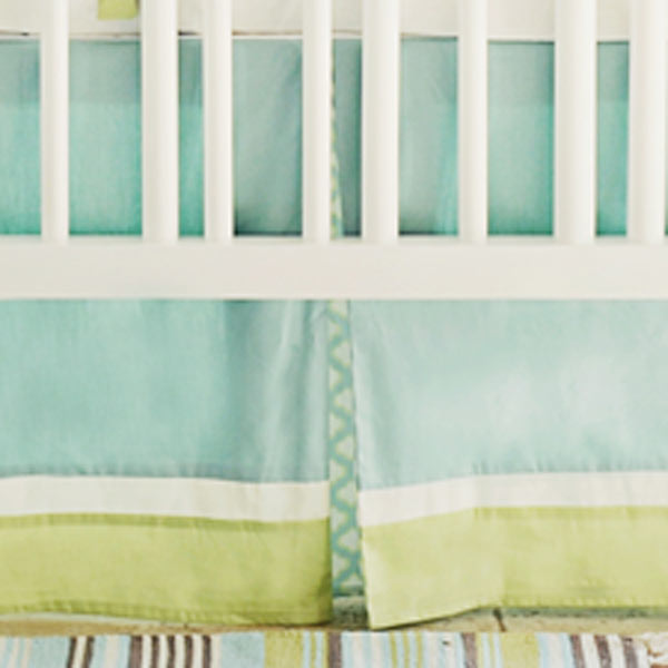 Green and Mint Crib Skirts