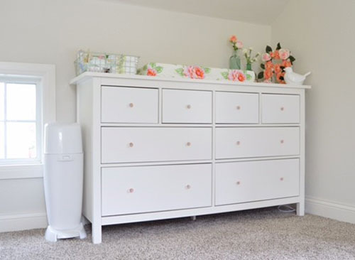 Using A Dresser Top For Your Changing Table Station Eliminates Having To  Find Room For Another Piece Of Nursery Furniture In The Room.
