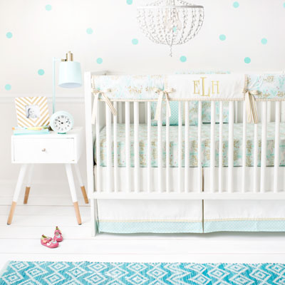 Mint Baby Crib Bedding
