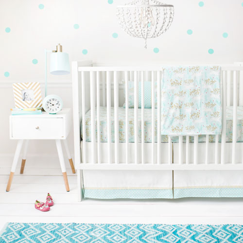 gold and mint crib sheet mint unicorn collection - Crib Sheets