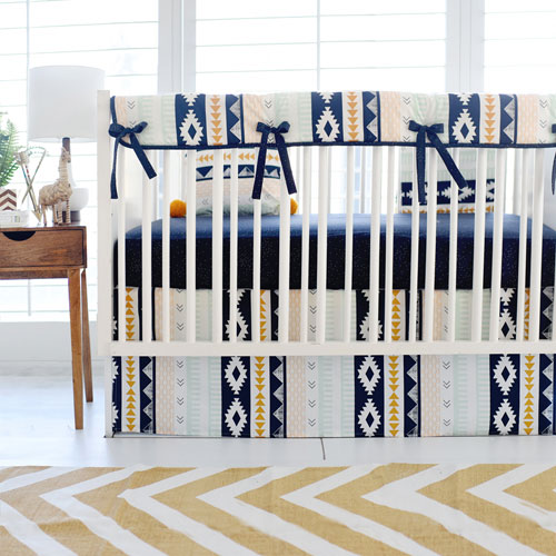 Navy Crib Bedding