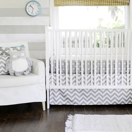 Gray Chevron Baby Bedding Chevron Crib Bedding Gray