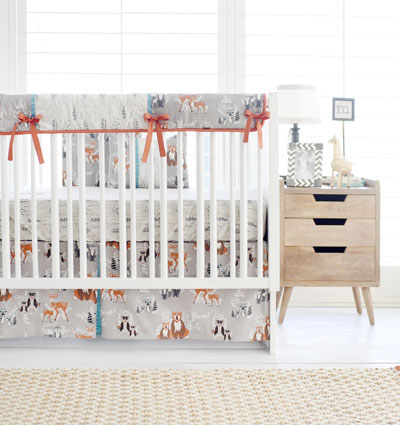 Quick View - Woodland Crib Rail Guard Set Woodland Baby Bedding Forest