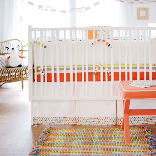Orange Baby Bedding
