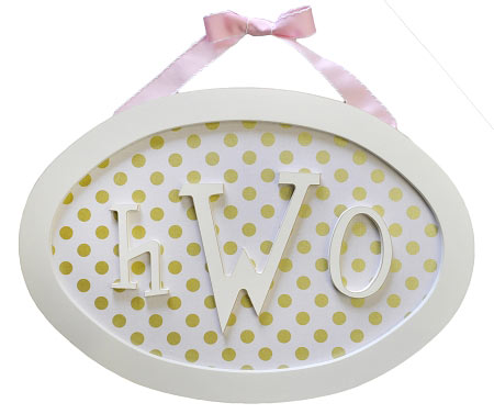 Oval Monogram Name Plaque