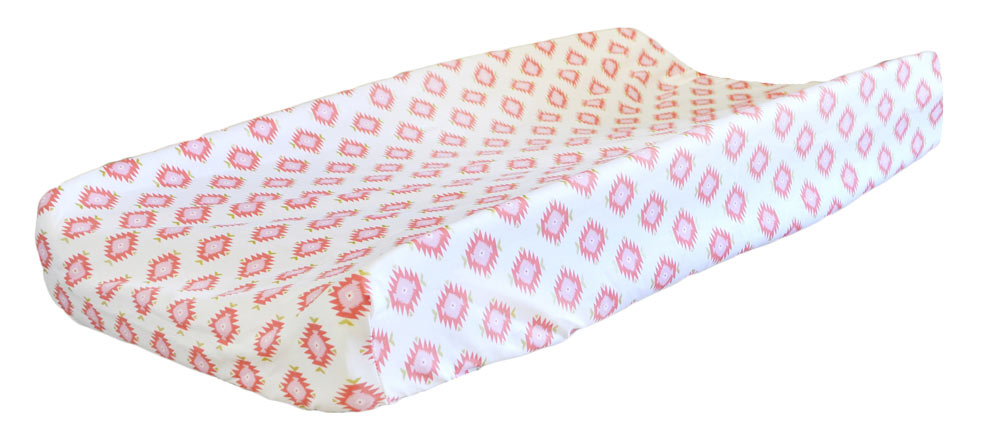 Pink & Coral Changing Pad Covers