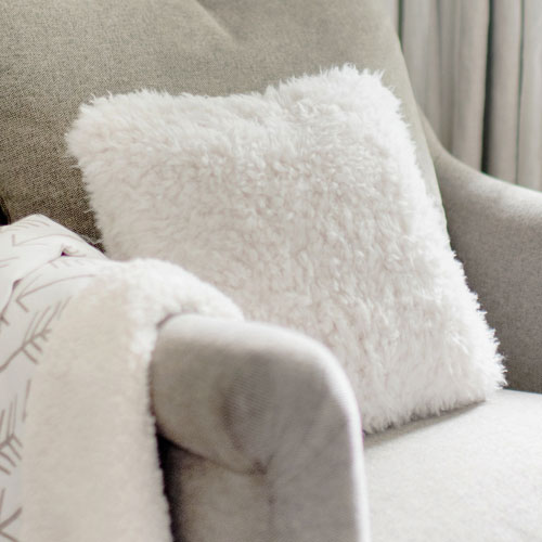 neutral and white throw pillows