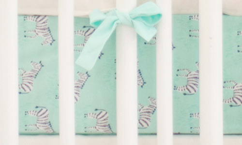 Green and Mint Crib Sheets