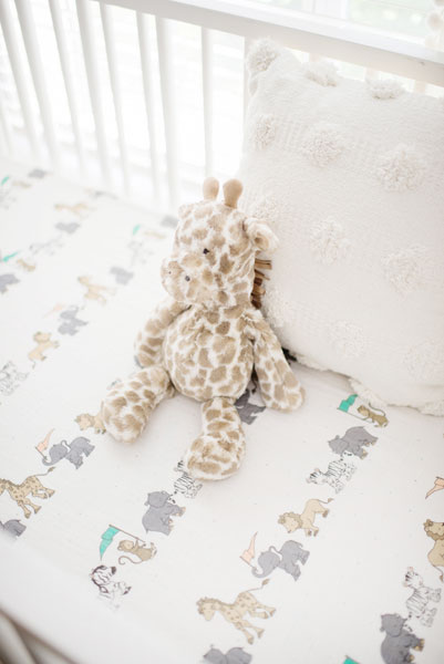 Neutral Crib Bedding Animal Print Baby Bedding Unisex