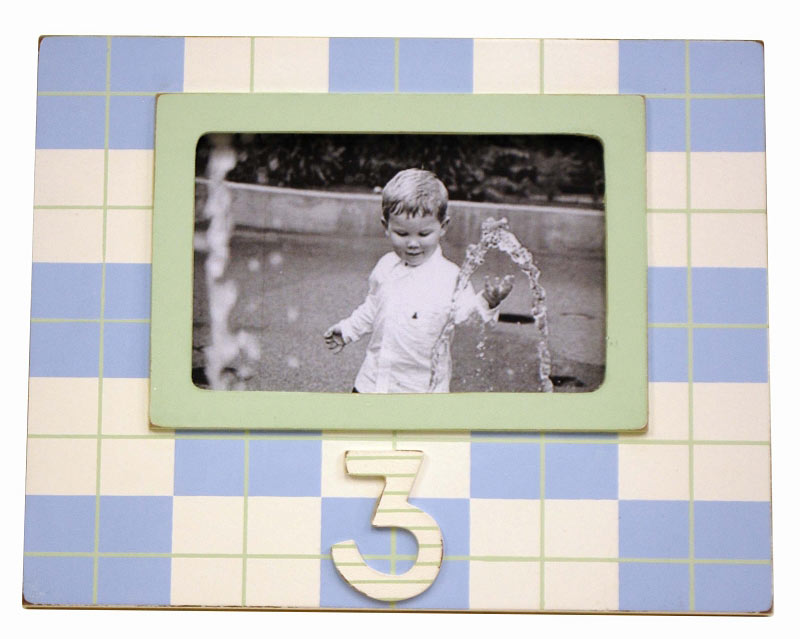 3rd birthday frame blue and green for Home decor inc 6650 tomken road