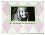 3rd Birthday Frame Pink and Green