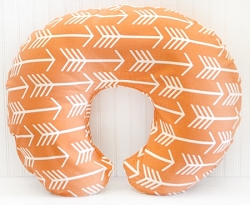 Orange Arrow Nursing Pillow Cover | Out & About Collection