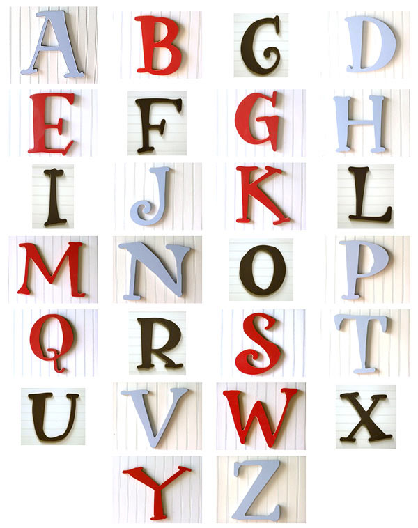 New Arrivals Capital Wooden Letters Are A Great Statement