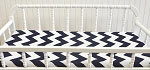 Zig Zag Baby in Navy Changing Pad Cover