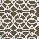 Chocolate Trellis Fabric