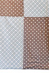Criss Cross Chocolate Dot Blanket