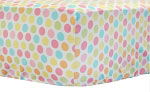 Cupcake Dot Crib Sheet