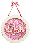 Scalloped Monogram Plaque