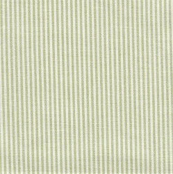 Thin Green and White Stripe Fabric