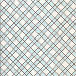 Criss Cross in Blue and Chocolate Fabric