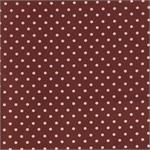 Petite Pink & Chocolate Dots Fabric