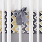 Black, Gray & Gold Crib Sheet | Golden Days Collection