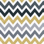Gold Glitter & Gray Chevron