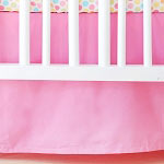 Solid Hot Pink Crib Skirt