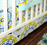 Indigo Summer Crib Skirt