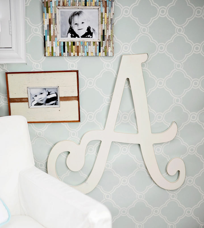 Wooden letters cursive wooden letters letters for Large wall letters for nursery