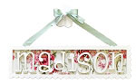 Scalloped Name Plaque - 7 Letters