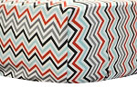 Paprika Chevron Crib Sheet