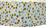 Polka Dot in Moss Crib Sheet