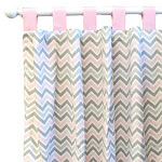 Pink & Gray Chevron Nursery Curtains | Peace, Love & Pink Collection