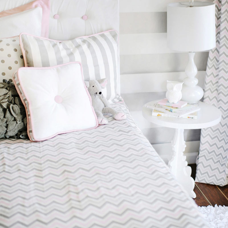 Very Best Pink Gray Chevron Bedding Set 800 x 800 · 363 kB · jpeg