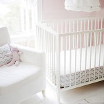 Pink & Gray Chevron Bumperless Crib Sheet  |  Peace, Love & Pink Crib Collection