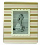 Pink & Chocolate Stripe Picture Frame