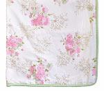 Rose Floral Crib Blanket