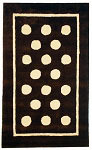 Chocolate Polka Dot Rug