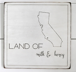 Rustic Wooden Wall Sign - California