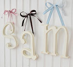 Small Wooden Hanging Letters