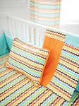 Multi Chevron Crib Blanket  |  Sante Fe Crib Collection